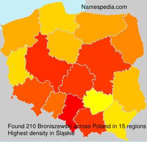 Surname Broniszewski in Poland