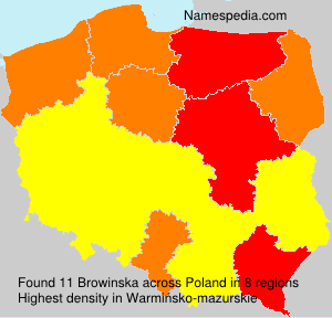 Surname Browinska in Poland