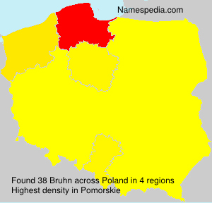 Surname Bruhn in Poland