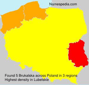 Surname Brukalska in Poland
