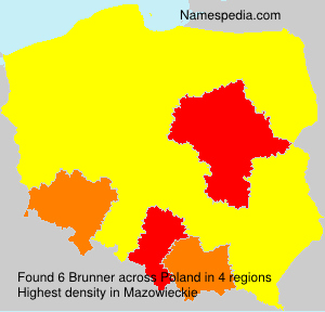 Surname Brunner in Poland