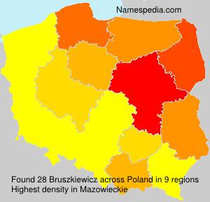 Surname Bruszkiewicz in Poland