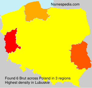 Surname Brut in Poland