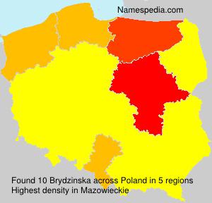 Familiennamen Brydzinska - Poland