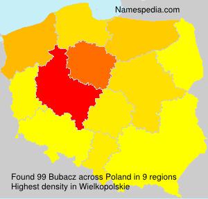 Surname Bubacz in Poland