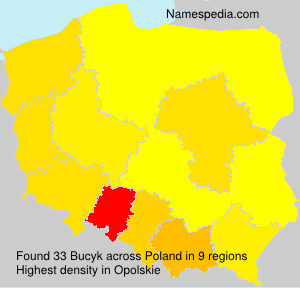 Surname Bucyk in Poland