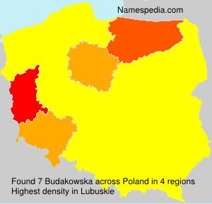 Surname Budakowska in Poland