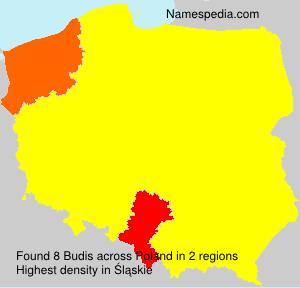 Surname Budis in Poland
