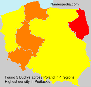 Surname Budrys in Poland