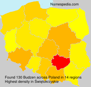 Surname Budzen in Poland