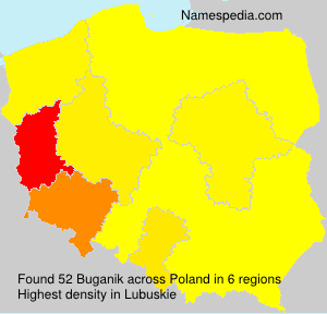 Surname Buganik in Poland