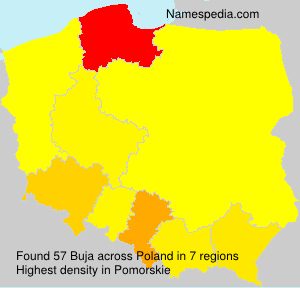 Surname Buja in Poland