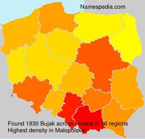 Surname Bujak in Poland