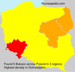 Surname Bukacz in Poland