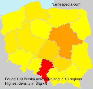 Surname Bulska in Poland
