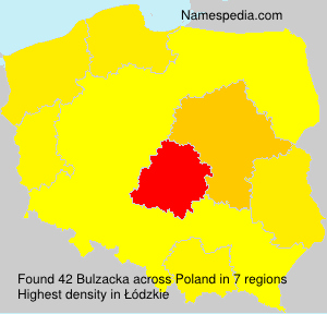 Surname Bulzacka in Poland