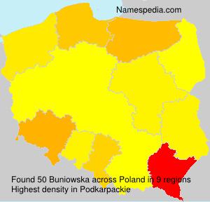 Surname Buniowska in Poland