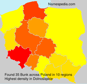 Surname Bunk in Poland