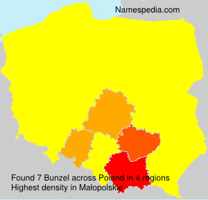 Surname Bunzel in Poland