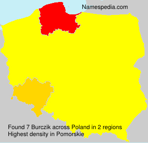 Surname Burczik in Poland