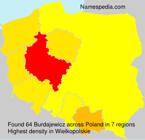 Surname Burdajewicz in Poland