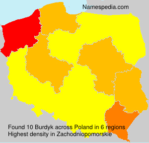Surname Burdyk in Poland