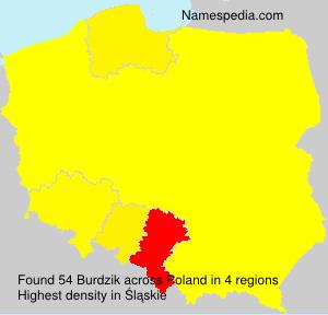 Surname Burdzik in Poland