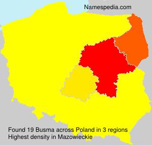 Familiennamen Busma - Poland