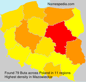 Surname Buta in Poland