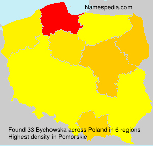 Surname Bychowska in Poland