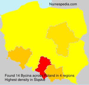 Surname Bycina in Poland