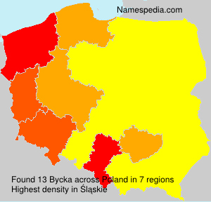 Surname Bycka in Poland
