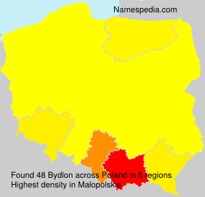 Surname Bydlon in Poland