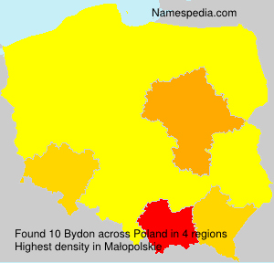 Surname Bydon in Poland