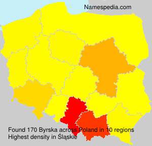 Surname Byrska in Poland