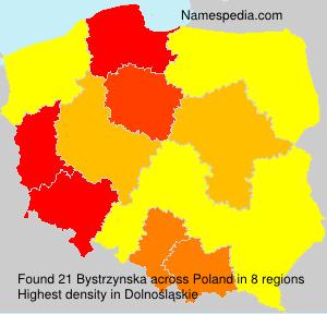Familiennamen Bystrzynska - Poland