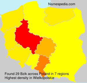 Surname Bzik in Poland