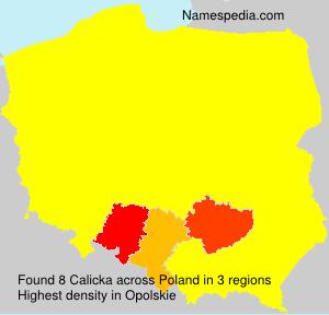 Surname Calicka in Poland
