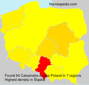 Surname Calusinska in Poland