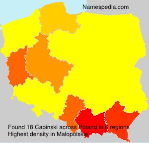 Surname Capinski in Poland