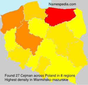 Surname Cejman in Poland