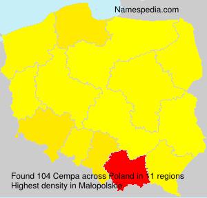 Familiennamen Cempa - Poland