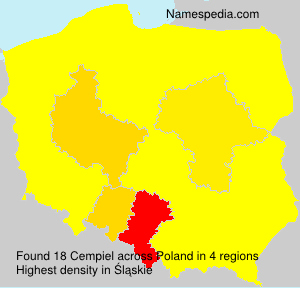 Surname Cempiel in Poland