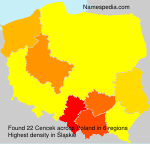 Surname Cencek in Poland