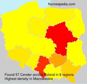 Familiennamen Cender - Poland