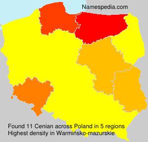 Surname Cenian in Poland