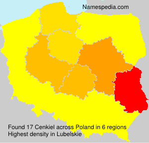Surname Cenkiel in Poland