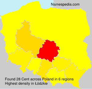 Surname Cent in Poland