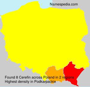 Surname Cerefin in Poland
