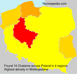 Surname Chalama in Poland